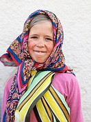 Sweden, Scania, Simrishamn, portrait of girl 10_11 wearing traditional costume