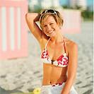 Woman summer beach