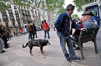 La Rambla, Barcelona, Catalonia, Spain.
