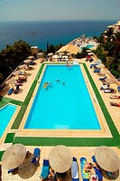 Swimming pool in Yaliskari Palace Hotel Golden View, greek island of Corfu