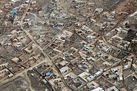 aerial view of Kabul, Afghanistan