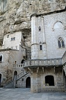 France, Lot, Rocamadour  Sanctuary in the religious city