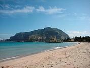 Strand Mondello auf Sizilien