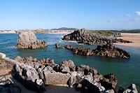 Beach of Isla,province of Cantabria,spain