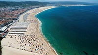 Beach of Nazare, Prata coast,Portugal