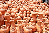 Colorful pottery are sold in the three day long Baishakhi fair or the Baishakhi mela which begins on the Bengali New Year's Day or the Pahela Baishakh...