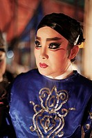 Opera performer with thick make_up
