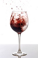 Wild red wine in a glass