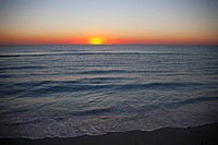 Sunset over the ocean, Miami Beach, Florida, USA