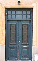 Antique door in Athens