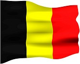 3d flag of Belgium isolated in white