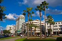 Place des Nations Unies square central new town Casablanca central Morocco northern Africa