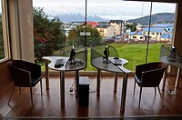 Hotel lobby in Ushuaia, Argentina