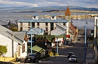 Street view of the city of Ushuaia, Argentina