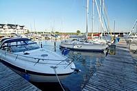 Yachthafen in Karlshagen auf der Insel Usedom