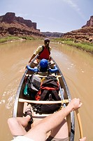 Canoeing on the Colorado River.