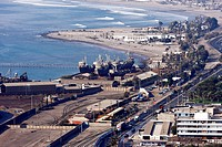 Harbor and port in Arica, Chile