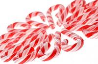 Circular arrangement of candy canes