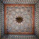 Ornately painted ceiling, Bukhara, Uzbekistan