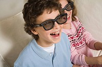 Family watching 3D at Home