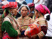 Hmong market. Bac Ha. Sapa region. North Vietnam
