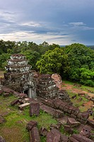 Phnom Bakheng at Angkor, Cambodia, is a Hindu temple in the form of a temple mountain  Dedicated to Shiva, it was built at the end of the 9th century,...