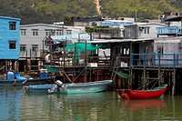 Tai O fishing port, Tai O, Lantau Island, Hong Kong, China