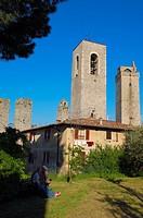 San Gimignano, Tuscany, Italy, Siena Province UNESCO World Heritage Site Europe.