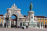Praça de Comercio, Dom Jose I statue, Arco da Rua Augusta, Lisboa