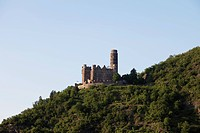 Europe, Germany, Rhineland_Palatinate, View of maus castle