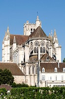France, Burgundy, Auxerre, cathedral of St Etienne