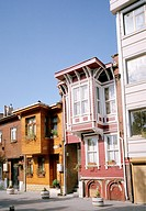 Traditional Ottoman housing in the district of Eyup in Istanbul, Turkey