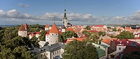 Towers of Old Medieval Tallinn Skyline From Patkuli Viewing Platform, Estonia