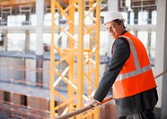 Businessman viewing construction site
