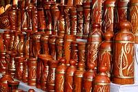 Pottery on display at a shop in Chittagong, Bangladesh November 2008