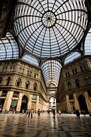 Italy, Naples, Galleria Umberto, dome