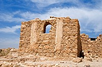 Ruins of Byzantine church outside, Masada National Park, Israel, Asia