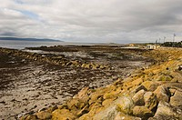Republic of Ireland, County Galway, Galway Bay at low tide