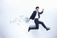 successful businessman and big money