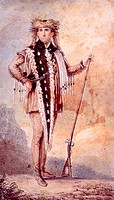 Meriwether Lewis 1774_1809, co_leader of the Lewis and Clark Expedition, watercolor by Charles Balthazar Julien Fevret de Sain