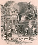 The Panama Railroad crossed the fifty miles of Isthmus to the Pacific. Begun in 1850 and was completed in 1855 it cost over seven million dollars rais...