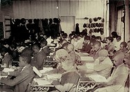 African American High School, original caption: '75 Sixth Grade children colored crowded into 1 small room in an old store building near Negro High Sc...