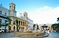 The Alcadia city hall in Plaza de Armas dating from 1604 in San Juan, capital of Puerto Rico, in the Caribbean