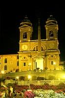 Italy, Lazio, Rome, Trinita dei Monti church,