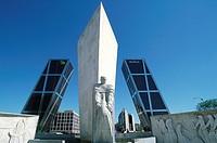 Spain, Madrid, Plaza de Castilla, Torres Kio.