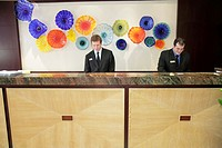 Florida, Boca Raton, Marriott Boca Raton, hotel, lobby, front desk, reception, art, man, men, job, service