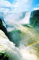 Iguazu Falls on the Brazil Argentina Paraguay border South America