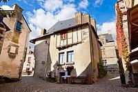 Medieval houses Rochefort en Terre Morbihan Brittany France Europe