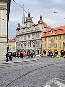 Vaclavske namesti square in central Prague, Prague, Czech Republic, Central Europe