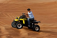 AN ATV AT THE DESERT SAFARI IN DUBAI
